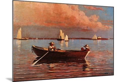 Gloucester Harbor-Winslow Homer-Mounted Art Print