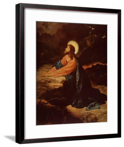 Christ in Gethsemane-E^ Goodman-Framed Art Print