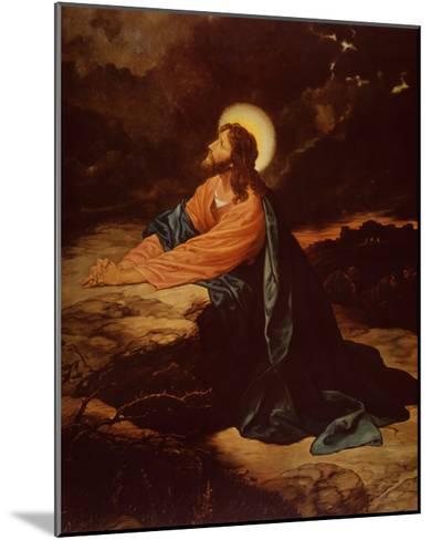 Christ in Gethsemane-E^ Goodman-Mounted Art Print