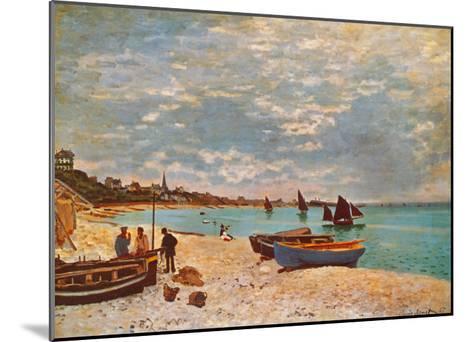 Beach at Sainte-Adresse-Claude Monet-Mounted Art Print
