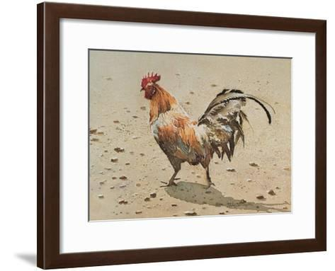 Banty Rooster-LaVere Hutchings-Framed Art Print