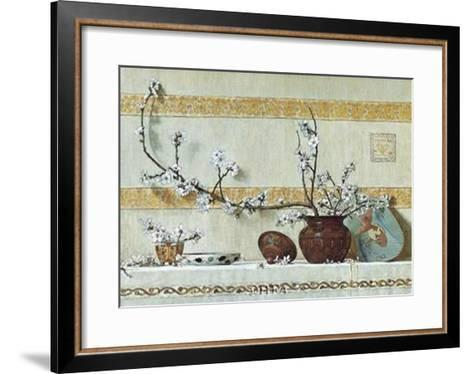 Quince Blossoms-Charles Caryl Coleman-Framed Art Print