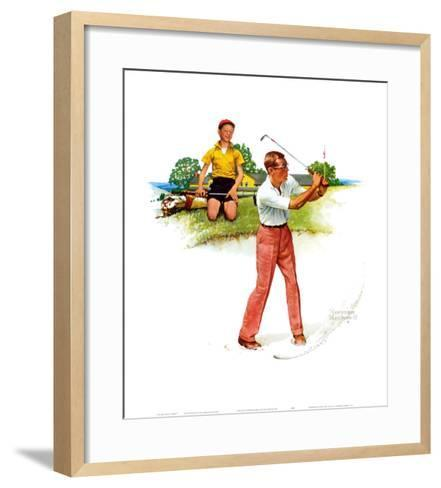 Blasting Out-Norman Rockwell-Framed Art Print