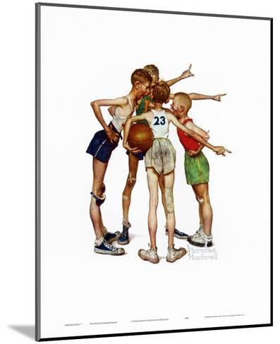 Oh, Yeah-Norman Rockwell-Mounted Art Print