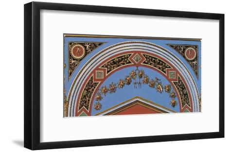 Loggia in the Vatican II (detail)-Raphael-Framed Art Print