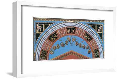 Loggia in the Vatican III (detail)-Raphael-Framed Art Print