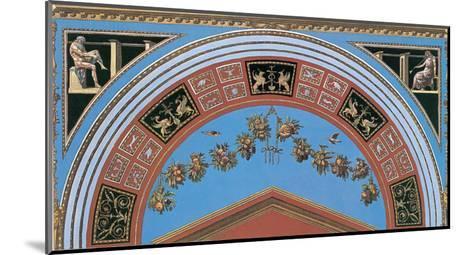 Loggia in the Vatican III (detail)-Raphael-Mounted Art Print