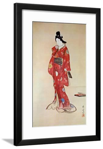 Lady In Red-Kyosai-Framed Art Print