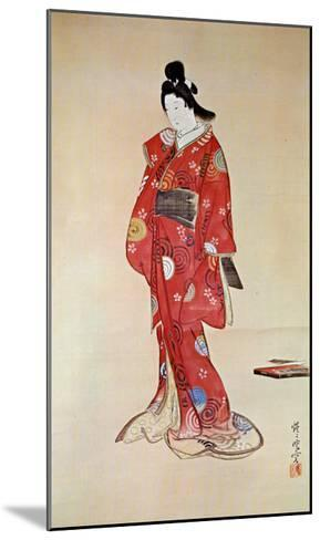 Lady In Red-Kyosai-Mounted Art Print