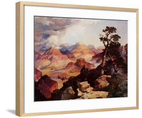 Clouds in the Canyon-Thomas Moran-Framed Art Print