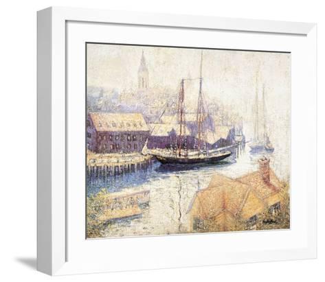 Gloucester Harbor, 1913-Hayley Lever-Framed Art Print