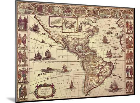 Map of North and South America-Joan Blaeu-Mounted Art Print