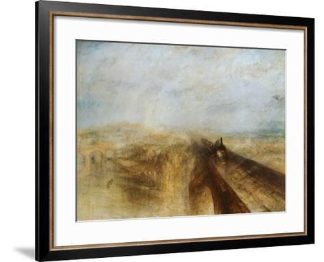 Rain, Steam and Speed-J^ M^ W^ Turner-Framed Art Print