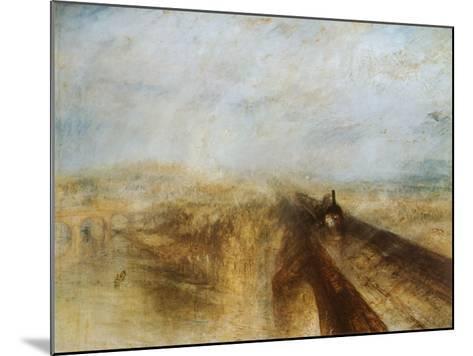 Rain, Steam and Speed-J^ M^ W^ Turner-Mounted Art Print