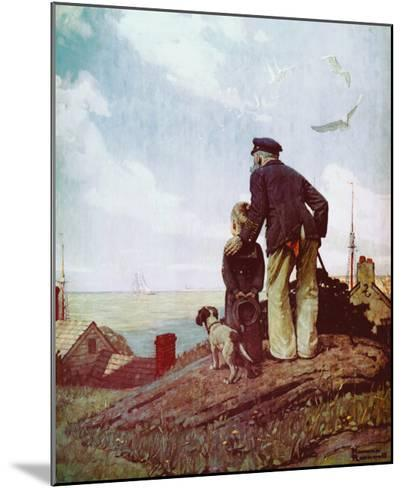 Outward Bound-Norman Rockwell-Mounted Art Print