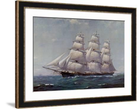 McKay Racer, Sovereign of the Seas-Frank Vining Smith-Framed Art Print