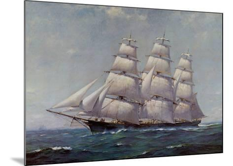 McKay Racer, Sovereign of the Seas-Frank Vining Smith-Mounted Art Print