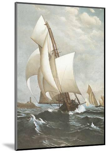 Winning Yacht-J^ D^ Davidson-Mounted Art Print