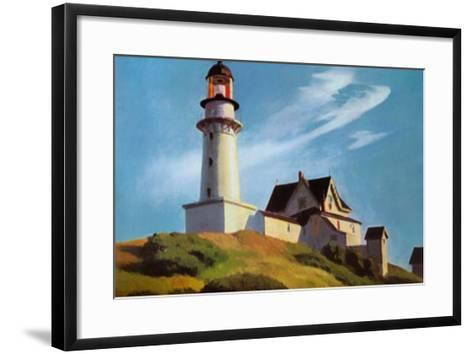 Lighthouse at Two Lights-Edward Hopper-Framed Art Print