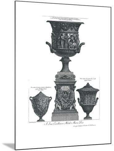 Vaso Antico-Giovanni Battista Piranesi-Mounted Art Print