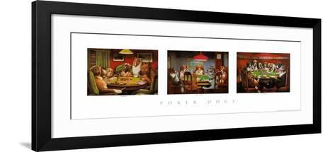 Poker Dogs-Cassius Marcellus Coolidge-Framed Art Print