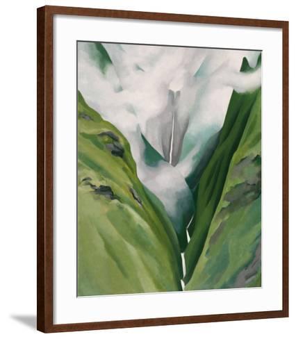 Waterfall No. 3, 'Iao Valley-Georgia O'Keeffe-Framed Art Print