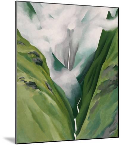 Waterfall No. 3, 'Iao Valley-Georgia O'Keeffe-Mounted Art Print