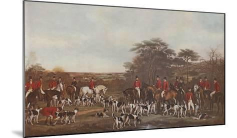 Sir Richard Sutton and the Quorn Hounds-Sir Francis Grant-Mounted Art Print