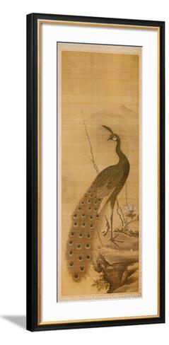 Peacock-Yanagisawa Kien-Framed Art Print