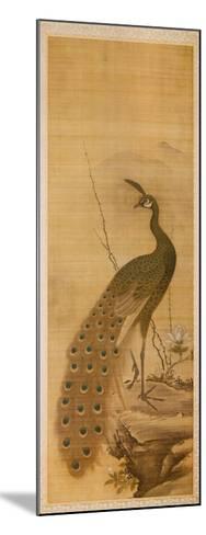 Peacock-Yanagisawa Kien-Mounted Art Print