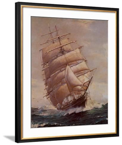 Romance of Sail-Frank Vining Smith-Framed Art Print