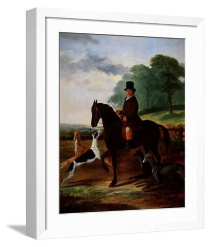 Huntsman with his Greyhounds-William Henry Knight-Framed Art Print