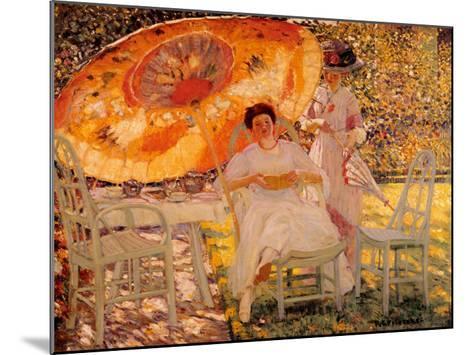 The Garden Parasol, 1909-Frederick Carl Frieseke-Mounted Art Print