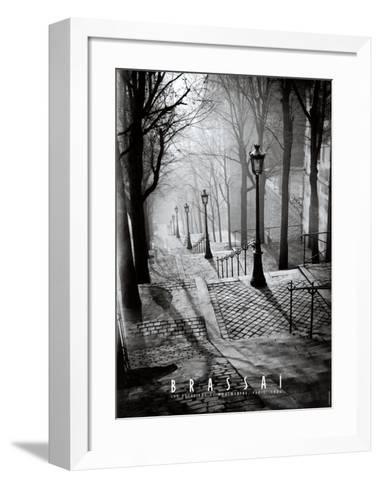 Les Escaliers de Montmartre, Paris-Brassa?-Framed Art Print