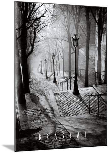 Les Escaliers de Montmartre, Paris-Brassa?-Mounted Art Print