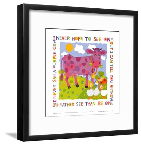 Purple Cow-Cheryl Piperberg-Framed Art Print