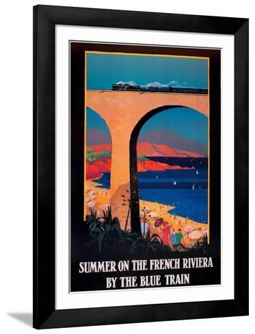 Summer on the French Riviera--Framed Art Print