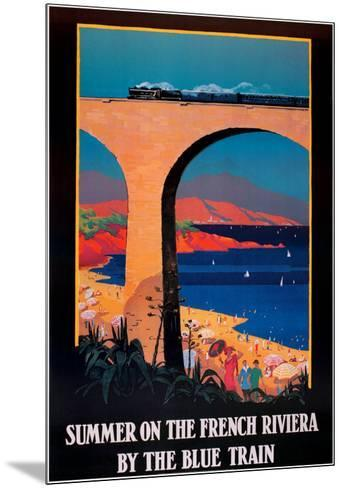 Summer on the French Riviera--Mounted Art Print