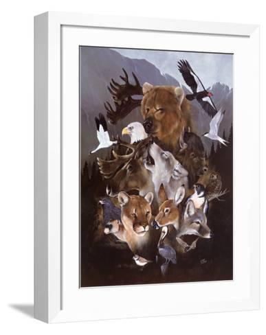 North American Endangered Wildlife--Framed Art Print
