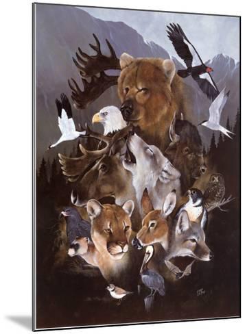 North American Endangered Wildlife--Mounted Art Print