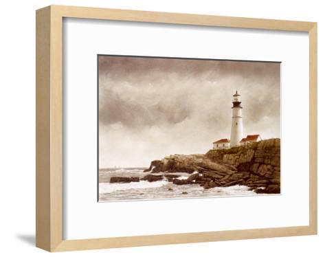 Portland Light-Douglas Brega-Framed Art Print
