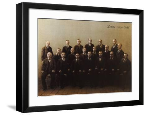 Father, Third from Left-Michael Sowa-Framed Art Print