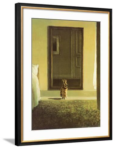 Bunny Dressing-Michael Sowa-Framed Art Print