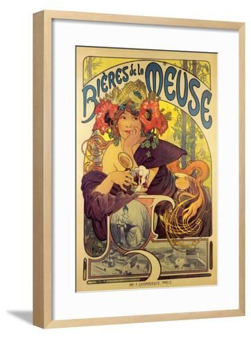 Bieres de la Meuse-Alphonse Mucha-Framed Art Print