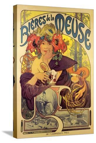 Bieres de la Meuse-Alphonse Mucha-Stretched Canvas Print