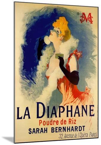 La Diaphane-Jules Ch?ret-Mounted Art Print