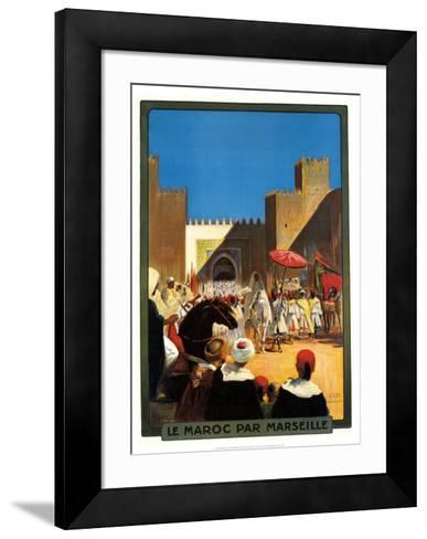 La Maroc Par Marseille-Maurice Romberg-Framed Art Print