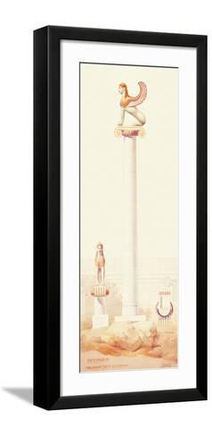 Acropole of Lindos-Tournaire-Framed Art Print
