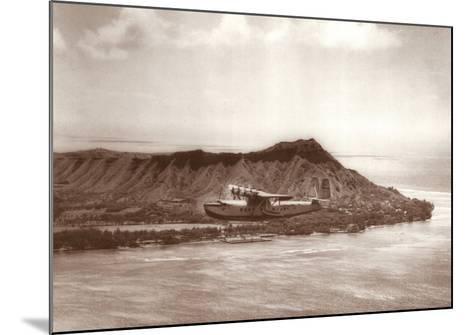 Pan American Clipper over Waikiki, Hawaii, 1935-Clyde Sunderland-Mounted Art Print