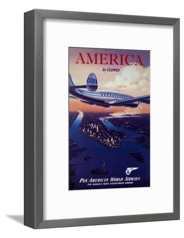 America by Clipper--Framed Art Print